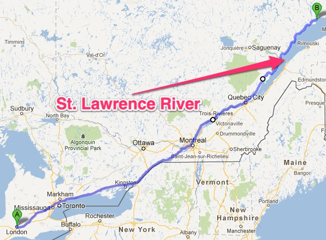 St Lawrence River ThingLink - St lawrence river on us map